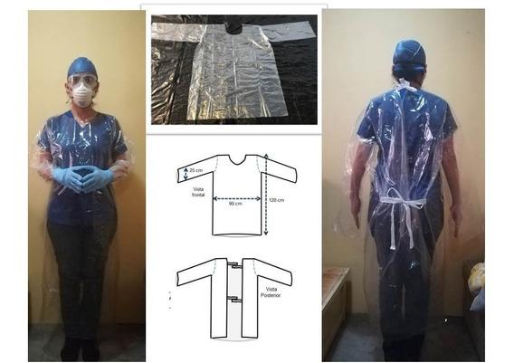 Bata Cuerpo Completo, Impermeable Equipo Protección Personal