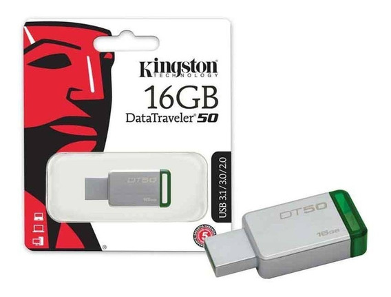 05 Pen Drive Kingston 16gb Dt50 Original Lacrado Usb 3.0