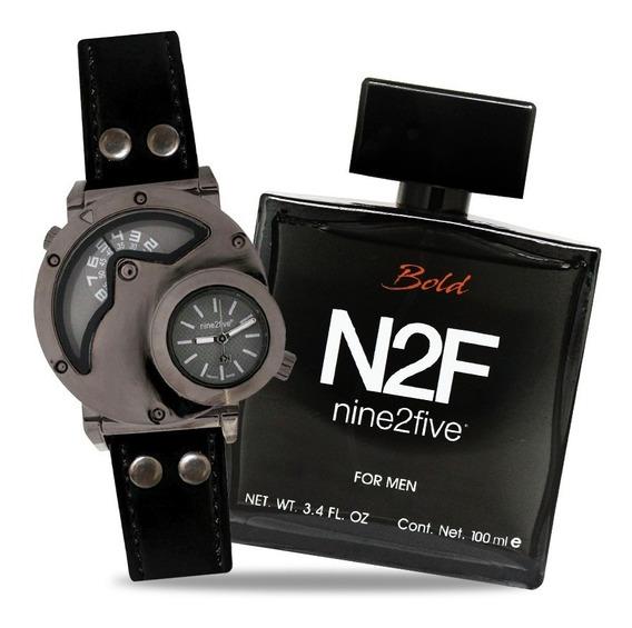 Reloj + Perfume Bold Para Hombre - Nine2five