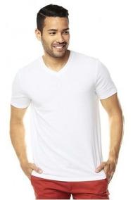 Blanca Camiseta Cuello En Algodón V Nacional uXiPZOkT