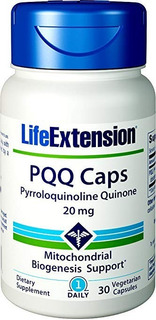 2x Pqq - Pirroloquinolina Quinona 20mg 30 Cap Life Extension