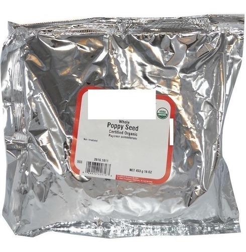 25g Semente De Papoula Organica - Certificado Usda