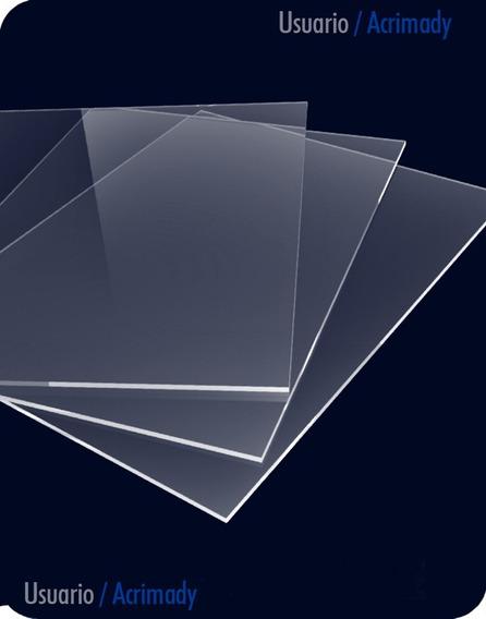 5 Placas De Acrílico 3mm Para Corte Y Grabado Laser.