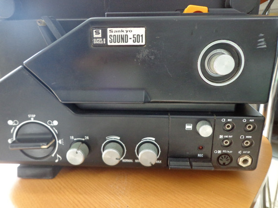Projetor Super-8 Sankyo Sound 501 ( Veja A Descrição Antes )