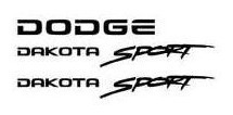 V8 Magnum + Dakota Sport +dodge+simbolo Em Resina