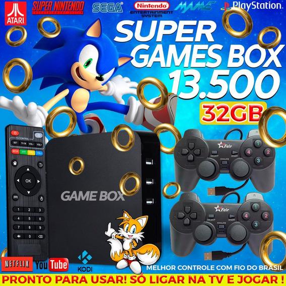 Retro Box - Video Game Retro Com 12.000 Jogos Antigos 32gb