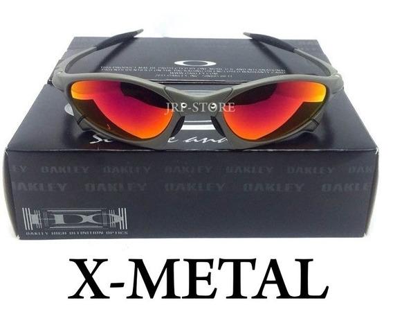 Oculos Oakley Juliet Penny Xmetal Lente Black Iriam Prata