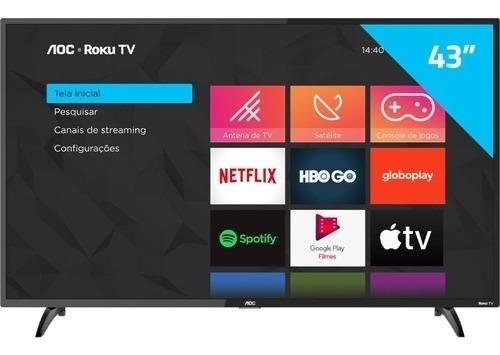 Smart Tv Aoc Roku Led 43 43s5195/78 Com Wi-fi, Fullhd