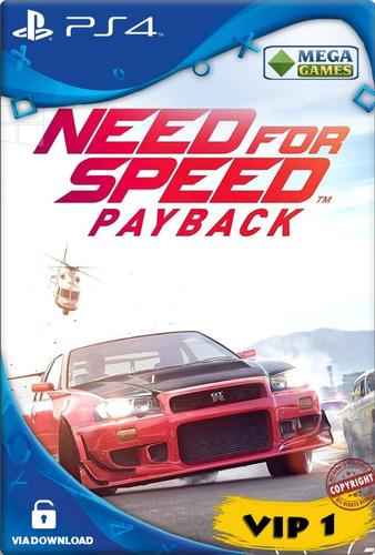 Need For Speed Payback Ps4 Cod 1 Psn Envio Imediato !!!