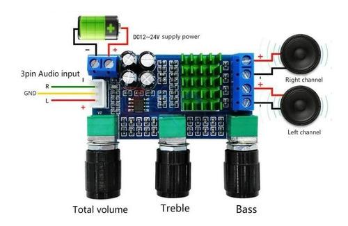 Tarjeta Amplificador 24v Dc 12v 80w X 2 Audio Digital