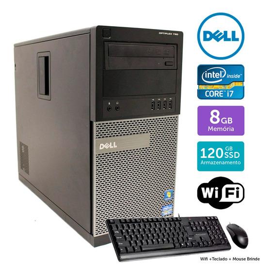 Computador Usado Dell Optiplex 790 I7 8gb Ssd120gb Brinde