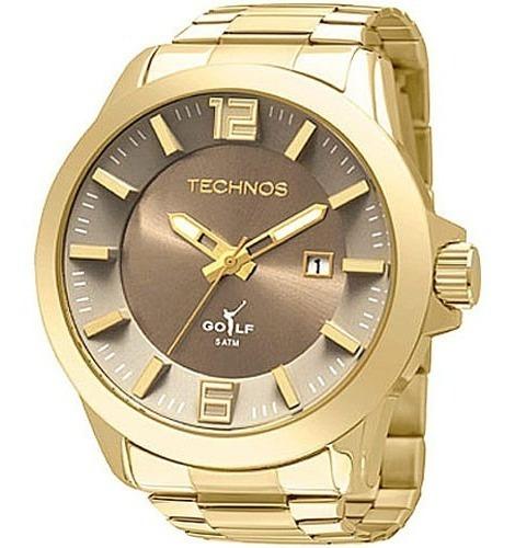 Relógio Technos Masculino Classic Golf Dourado Com Nf