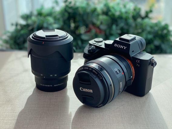 Camera Sony A7ii + 28-70mm + 50mm + Adaptador
