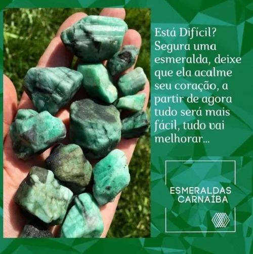 Esmeraldas - Naturais Para Coleção - Pedras Cura Cristais