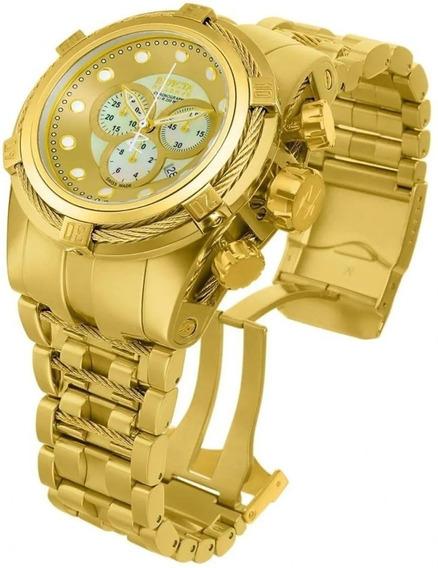 Relógio Ggt8585 Invicta 12738 Bolt Zeus Dourado Ouro 18k