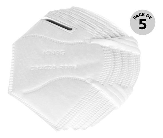 Cubrebocas K-n95 De 5 Capas Con Certificado (5 Piezas)
