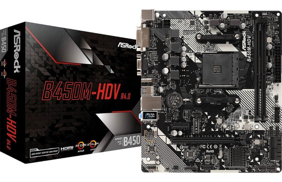 Motherboard Amd Asrock B450m Hdv R4.0 M.2 Ddr4 Hdmi Am4
