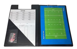 Pizarra Rugby Magnetica! Carpeta + Pizarra Doble + Fibron Df
