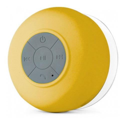Imagem 1 de 3 de Mini-caixa De Som Resistente A Agua - Bts-06 - Cor Amarela
