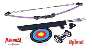 Arco Upland Purple Juvenil Poleas 2 Flechas 26 Mendoza Envio