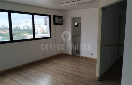 Imagem 1 de 15 de Sala Comercial 70m2 Com 2 Vagas De Garagem Na Chacara Santo Antônio - Cf56406