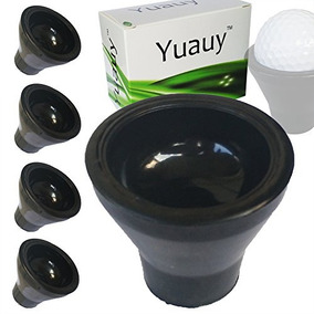 Yuauy 4 Piezas Tee Golf Ball Retriever Sucker Grabber