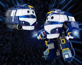 Robot Trains Boneco + Acessórios Robô Trem - Original