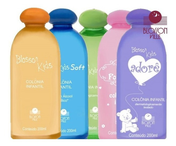 3 Unid. Colônia Infantil Blosson Kids Frutal / Fresh - 200ml