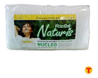 Almohada Naturis Fiberball 70 X 40 Cm Con Nucleo De Espuma