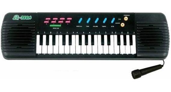 Teclado Infantil Piano Brinquedo Musical + Karaoke Microfone