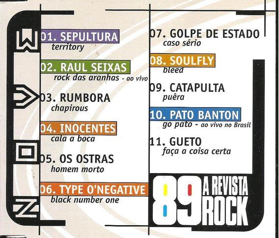 Cd - 89 A Revista Rock - Nº 9 - Sepultura, Raul Seixas, Etc