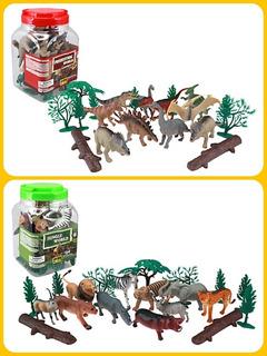Kit Animales Selva =jungla Y Dinosaurios 20 Piezas C/u