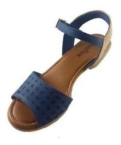 Sandália Usaflex Feminina Azul Aa1807