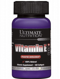 Vitamina E Importada Ultimate Nutrition 100 Cápsulas