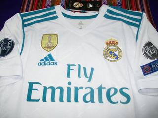 Camiseta Titular Real Madrid 2017-2018 Blanca Niños