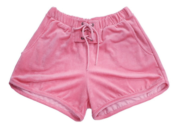 Kit 3 Shorts Feminino Plush Ilhós Cardaço Bolso Love Verão