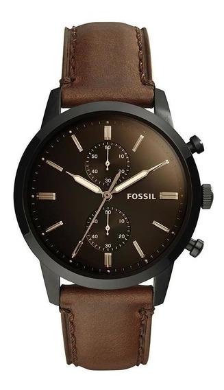 Relógio Fossil Masculino Townsman Preto - Fs5437/0mn