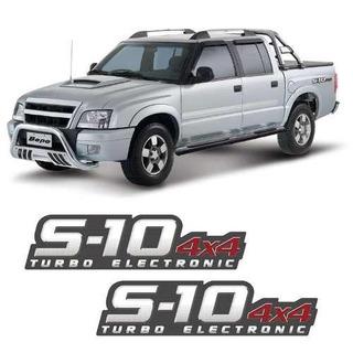 Par De Adesivos S10 2009/2011 Turbo Electronic 4x4 Vermelho