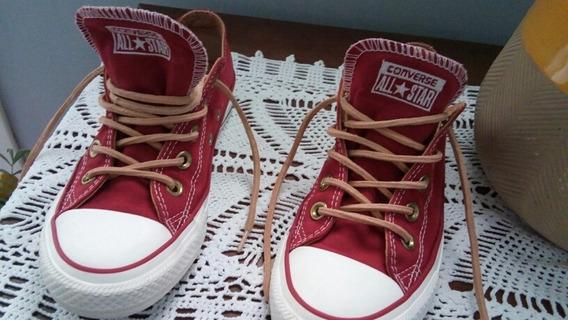 Zapatillas Converse Importadas Gamuzadas Cordones De Cuero