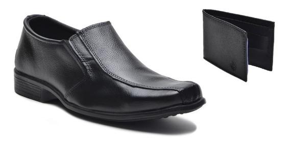 Sapato Social Casual Masculino Barato Adulto + Carteira