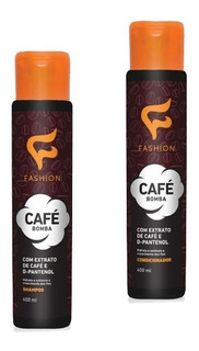 Kit Shampoo E Condicionador Cafe Bomba Fashion 400ml