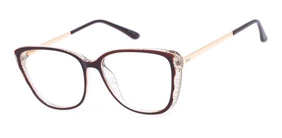 Armação Oculos Ogrife Og 1694-c Feminino Com Lente Sem Grau