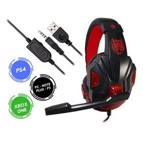 Headset Gamer Xbox One Ps4 Som Do Jogo E Chat Plug P3 Exbom.