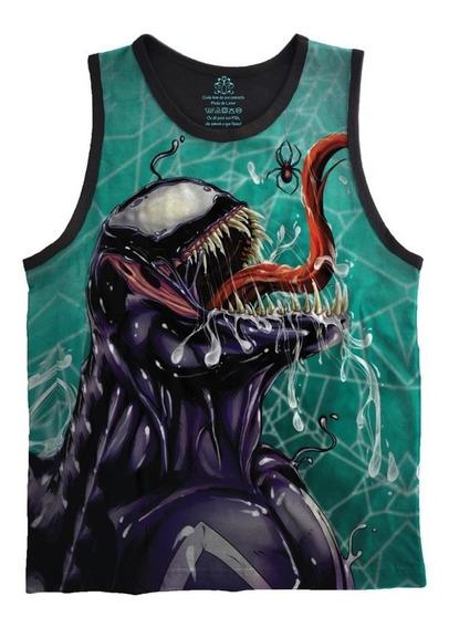 Camiseta Regata Adulto Full Print Venom Tamanhos Especiais