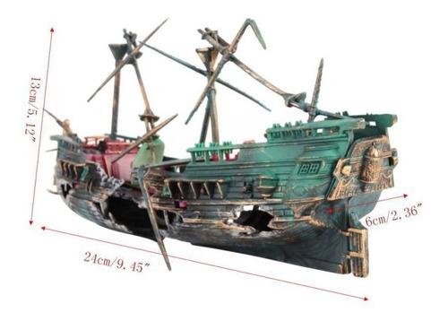 Imagen 1 de 5 de Barco Pirata Para Acuario Decoracion