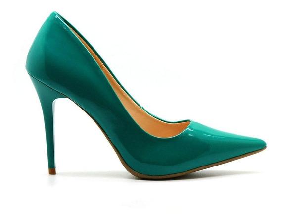 Scarpin Royalz Verniz Penélope Verde