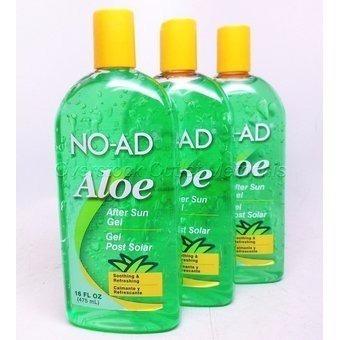 3 Unidades Gel Aloe Vera  Post Bloqueador Solar No-ad 475ml