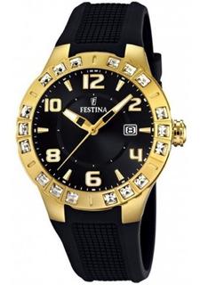Reloj Festina F16582.4 Dama C/swarowsky Garantia Oficial
