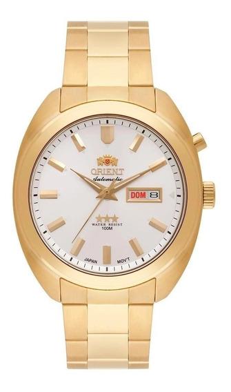 Relógio Orient Dourado Automatico Com Fundo Branco Masculino