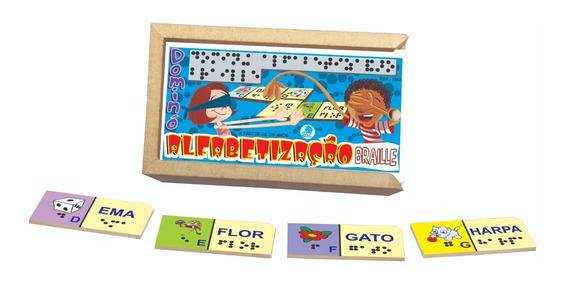 Jogo De Dominó Infantil Alfabetização Braille